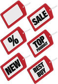 Set of Sale Tags — Stock Vector