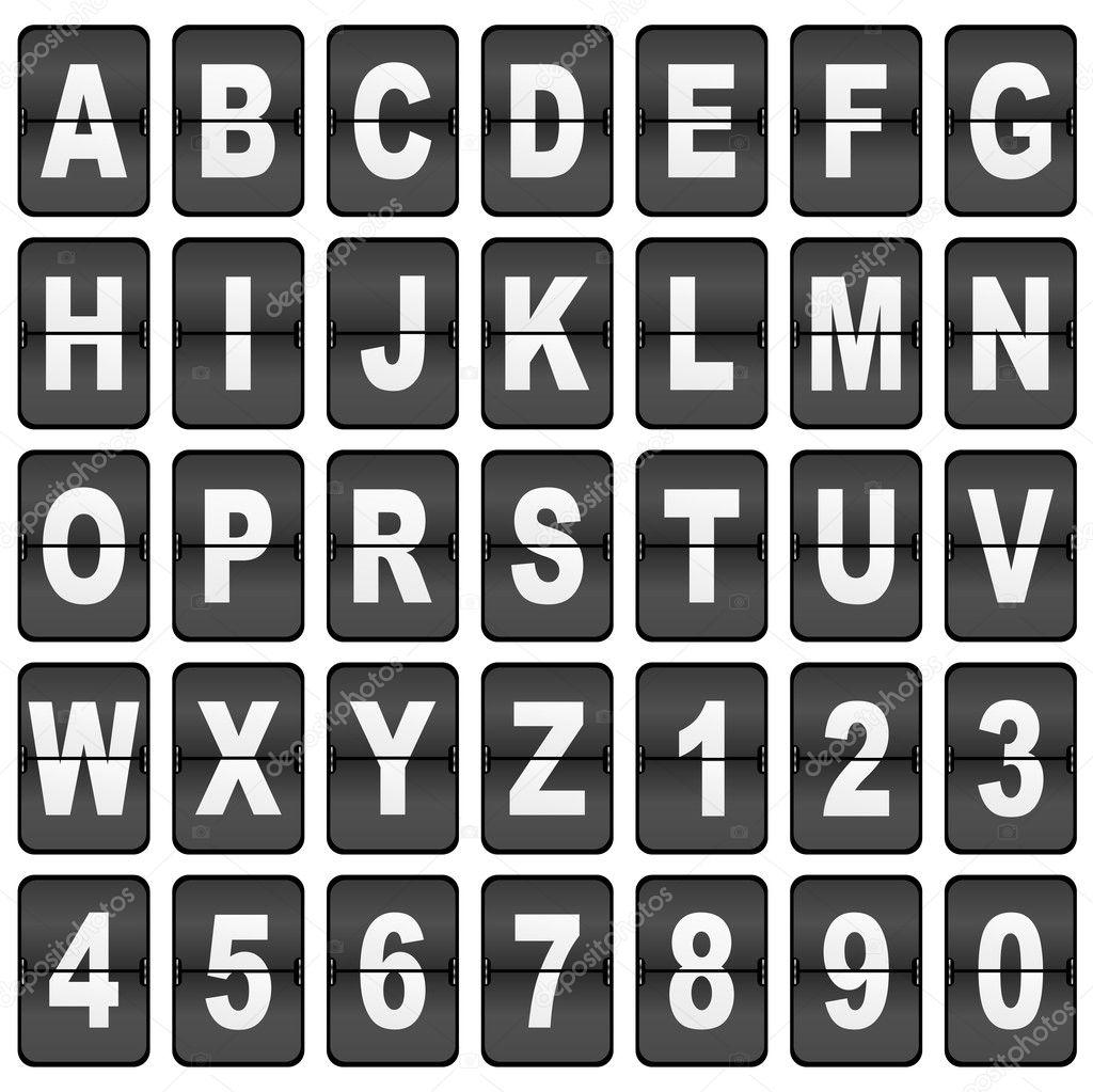 Vintage Scoreboard Font - #traffic-club