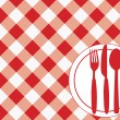 Gingham Menu Card — Stock Vector