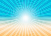 Abstract Background - Sun Rays and Beach — Stock Vector