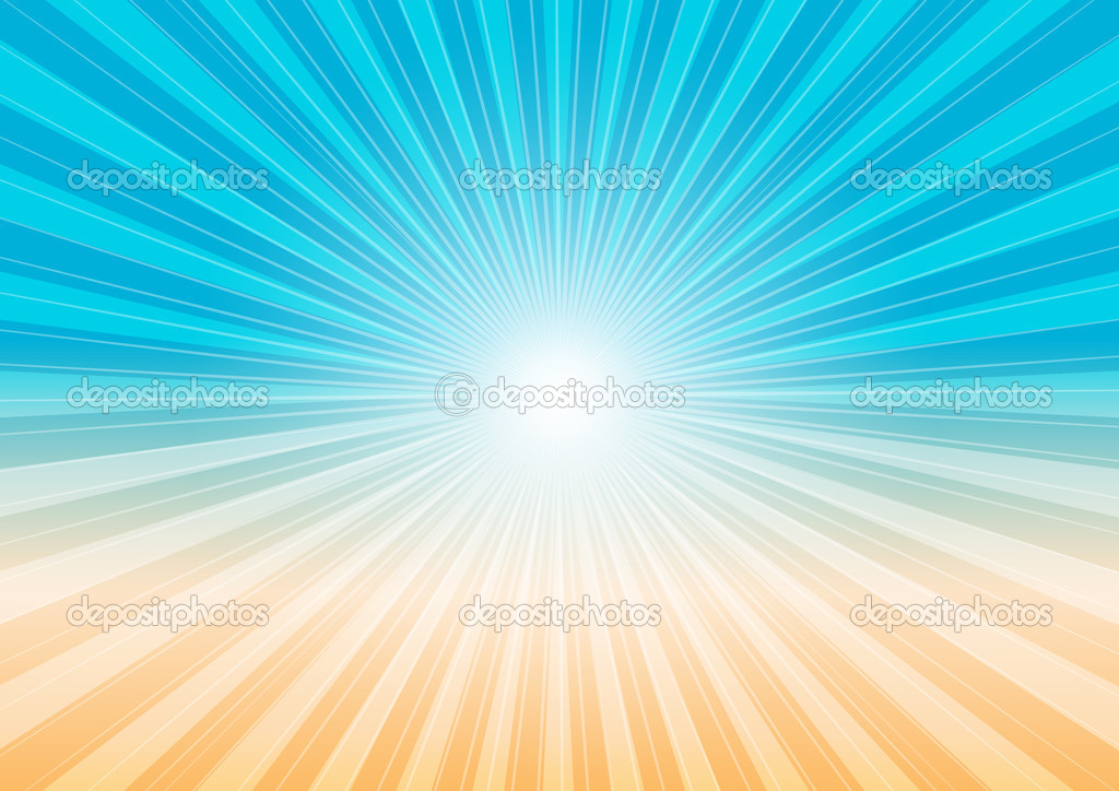 Abstract Background - Sun Rays, Sky and Beach — Stock Vector #4346652