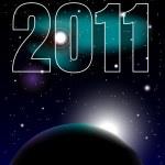 New Year Celebration 2011 Background — Stock Vector