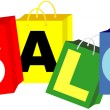 Royalty-Free Stock Vector Image: Shopping Bags - Sale Sign