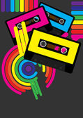 Retro Party Background — Stock Vector