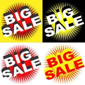 Retro Big Sale Signs — Stock Vector