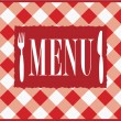 Menu Card - Red Gingham — Stock Vector #4675896