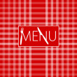 Menu Card - Red Gingham — Stock Vector #4676470