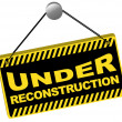 Stock Vector: Under Reconstruction Sign