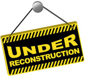 Under Reconstruction Sign — Stock Vector