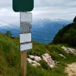 Signpost in Alps — Stock Photo