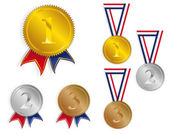 Award Medals / Ribbons — Stock Vector