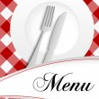 Stock Vector: Menu Card Design