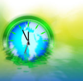 Enviromental Clock — Stockfoto