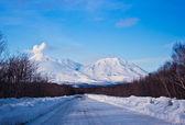 Snow road — Stock Photo