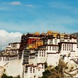 Landmarks of the Potala Palace in Lhasa Tibet - Stock Photo