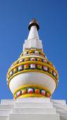 White stupa in Mongolia — Stock Photo