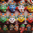 Colorful masks in Kathmandu Nepal — Stock Photo