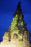 ネパール カトマンズにある古代の仏教仏塔 — ストック写真