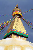 Golden stupa in Kathmandu Nepal — Stock Photo