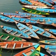 Colorful tour boats - Stock Photo