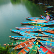 Colorful tour boats — Stock Photo