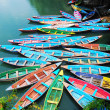 Colorful tour boats - Stok fotoğraf