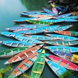 Colorful tour boats - Stockfoto