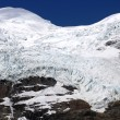 Glacier in snow mountains — Stock Photo