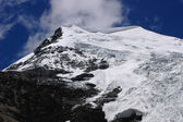 Glacier at snow mountains — Stock Photo