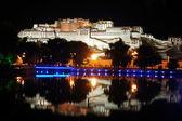 Night scenes of Potala Palace — Stock Photo