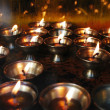 Butter lamps — Stock Photo