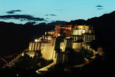 Night scenes of Potala Palace — Stock Photo