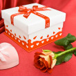 Royalty-Free Stock Photo: Presents and rose.