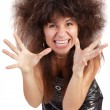 Royalty-Free Stock Photo: A frustrated and angry woman is screaming out loud