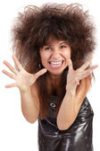 A frustrated and angry woman is screaming out loud — Stock Photo
