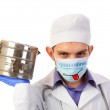 Quarantine, doctor in a mask — Stock Photo