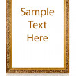Gold frame with a decorative pattern — Stock Photo