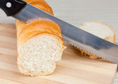 Loaf of homemade bread — Stock Photo