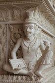 Ascetica statua in stile thai stampaggio ad arte — Foto Stock
