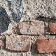 Wall texture and asphalt with vignette — Stock Photo