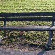 Old wooden bench - Stock Photo