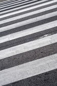 Crosswalks i asfalt — Stockfoto
