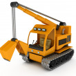 Dredge, Excavator — Stock Photo