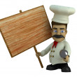 The cook with the tablet — Stock Photo