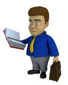 The businessman 3d character — Stock Photo