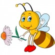 Cartoon bee — Imagen vectorial