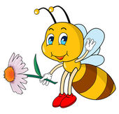 Cartoon bee — Vettoriale Stock