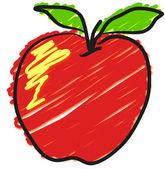 Apple — Vector de stock