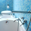 Blue bathroom — Stock Photo #4276659