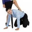 Submissive businessman at work — Stock Photo